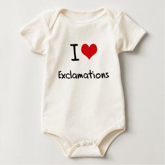 Amo exclamaciones trajes de bebé