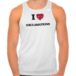 Amo exclamaciones tshirt