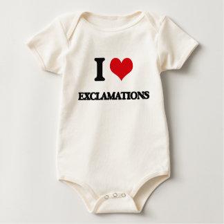 Amo EXCLAMACIONES Traje De Bebé