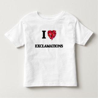 Amo exclamaciones t shirts