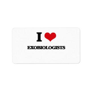 Amo Exobiologists Etiquetas De Dirección
