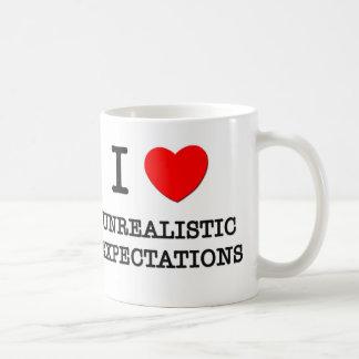 Amo expectativas poco realistas taza de café