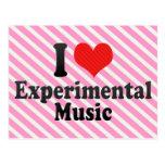 Amo experimental+Música Tarjetas Postales