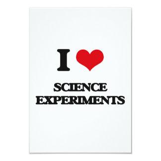 Amo experimentos de la ciencia invitación 8,9 x 12,7 cm