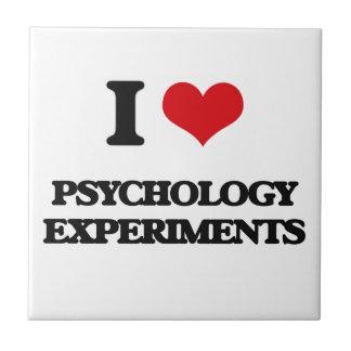 Amo experimentos de la psicología azulejos cerámicos