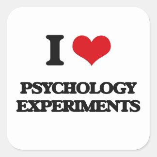 Amo experimentos de la psicología pegatinas cuadradases personalizadas