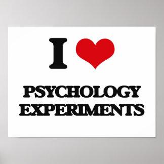 Amo experimentos de la psicología póster