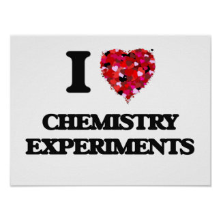 Amo experimentos de la química póster