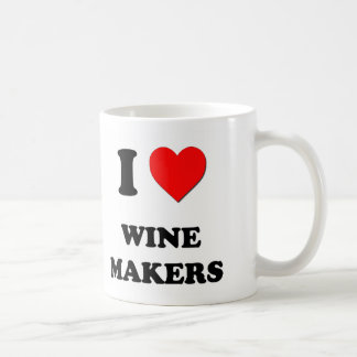 Amo fabricantes del vino taza básica blanca