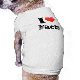 AMO FACTS png Camisas De Mascota