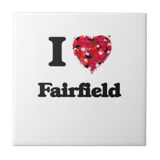 Amo Fairfield California Azulejo Cuadrado Pequeño