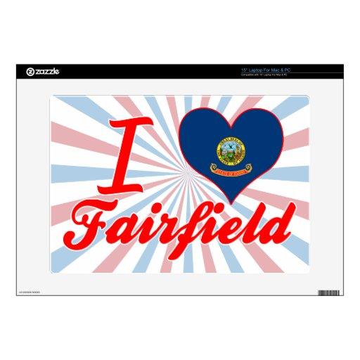 Amo Fairfield, Idaho Calcomanías Para Portátiles