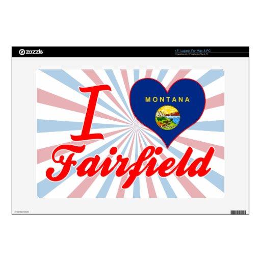 Amo Fairfield, Montana Calcomanías Para Portátiles