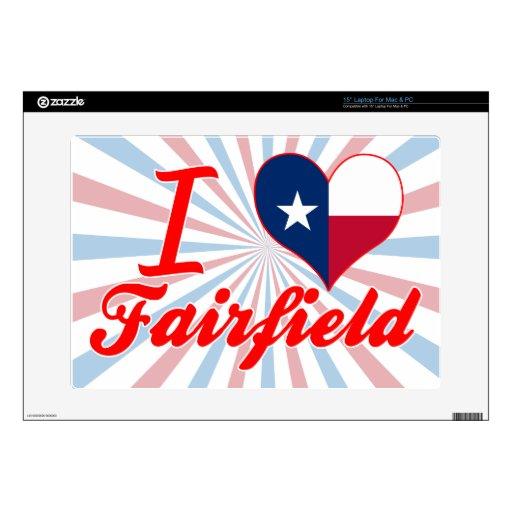 Amo Fairfield, Tejas 38,1cm Portátil Calcomanía
