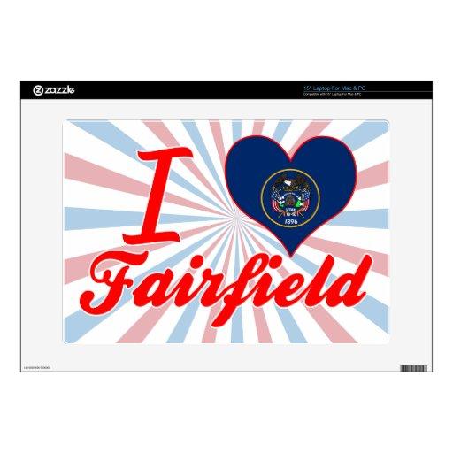 Amo Fairfield, Utah Calcomanías Para 38,1cm Portátiles