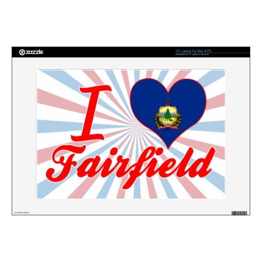Amo Fairfield, Vermonta Calcomanías Para 38,1cm Portátiles