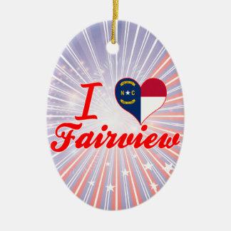 Amo Fairview Carolina del Norte Ornamentos De Reyes Magos