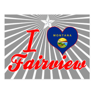 Amo Fairview Montana Tarjetas Postales