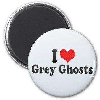 Amo fantasmas grises imanes de nevera