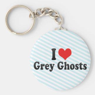 Amo fantasmas grises llaveros