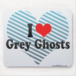 Amo fantasmas grises alfombrilla de ratón