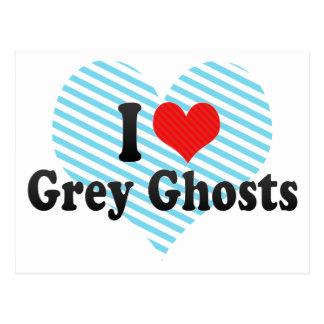 Amo fantasmas grises tarjeta postal