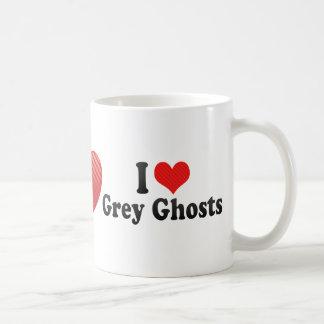 Amo fantasmas grises tazas de café