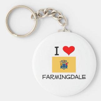 Amo Farmingdale New Jersey Llavero Personalizado