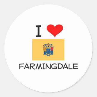 Amo Farmingdale New Jersey Pegatina Redonda