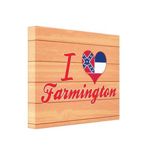 Amo Farmington, Mississippi Lienzo Envuelto Para Galerias