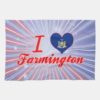Amo Farmington, Nueva York Toalla De Mano