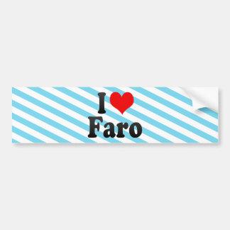 Amo Faro, Portugal. Eu Amo Faro, Portugal Etiqueta De Parachoque