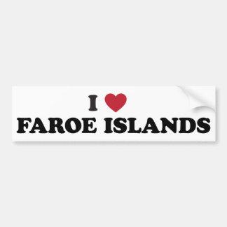 Amo Faroe Island Pegatina De Parachoque