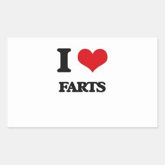 Amo Farts Pegatina Rectangular