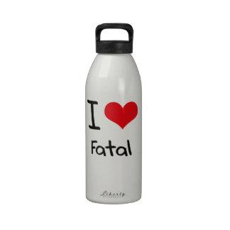 Amo fatal botella de agua