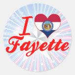 Amo Fayette, Missouri Etiquetas Redondas