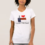 Amo Fayetteville Carolina del Norte Camisetas