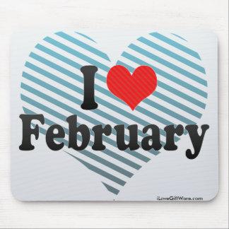 Amo febrero alfombrilla de ratones