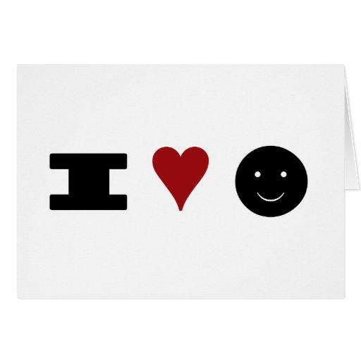 ¡Amo felicidad! Tarjetón