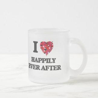 Amo feliz siempre después taza cristal mate