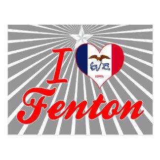Amo Fenton, Iowa Tarjetas Postales