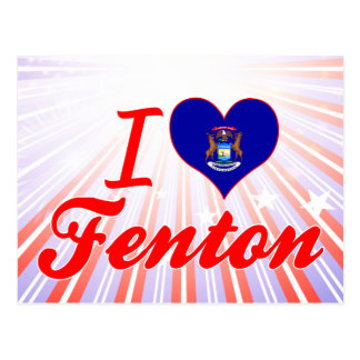 Amo Fenton, Michigan Tarjeta Postal