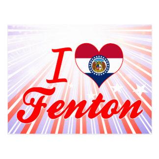 Amo Fenton, Missouri Tarjeta Postal