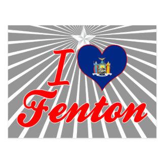 Amo Fenton, Nueva York Tarjeta Postal