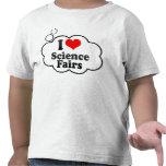 Amo ferias de ciencia camisetas