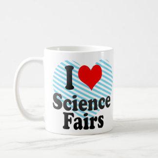 Amo ferias de ciencia taza básica blanca