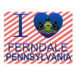 Amo Ferndale, PA Tarjeta Postal