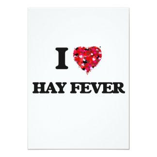 """Amo fiebre de heno invitación 5"""" x 7"""""""