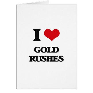 Amo fiebres del oro tarjeta de felicitación