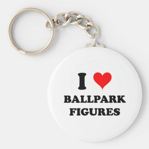 Amo figuras del estadio de béisbol llavero personalizado